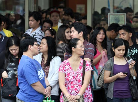 Filipino workers in Taipei. Photo from Want China Times.