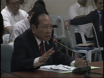 Domingo Lee at the Senate hearing.