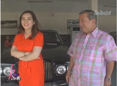 Sultan of Johor shows Kris Aquino his car collection