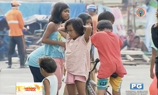 Tacloban children displaced by Yolanda