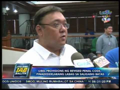 Lawyer Harry Roque files motion for reconsideration vs Cybercrime law.