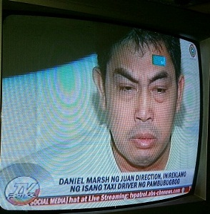 Taxi driver Edward Villanueva. Screengrab from ABS-CBN TV Patrol.