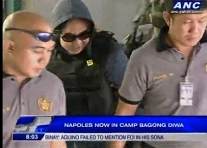 Janet Napoles arrives in Bicutan.