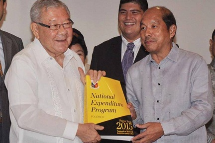 "Budget Secretary Florencio ""Butch"" Abad submits 2015 budget to Congress."