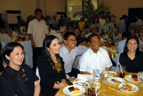 The Aquino sisters attend the birthday party of  Vice President  Jojo Binay.