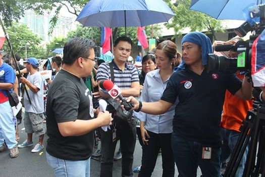 Grandeur Guerrero's moment on TV during June 12 rally in front of Chinese Embassy.