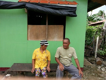 Nemesio and Adela Abucejo in their newly-built house.