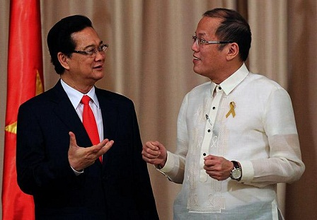 Alliance forged.Pres. Aquino and Vietnam  Prime Minister Nguyen Tan Dung in Malacanang May 2014.