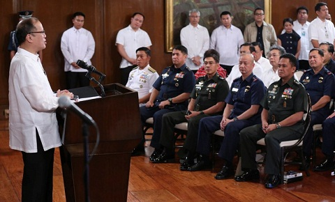 Aquino announces he accepted resignation of suspended PNP Chief Alan Purisima last Friday, Feb. 6.