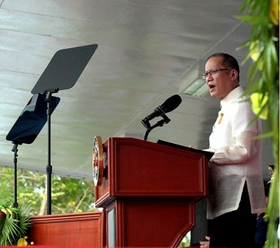 President Aquino at the PNPA 2015 commencement exercises.