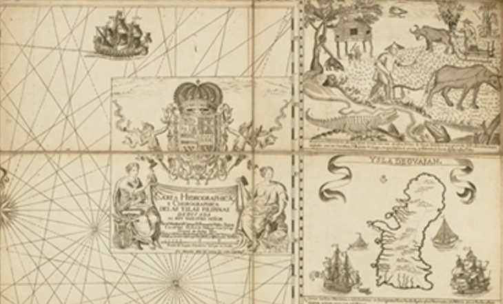 A portion of the Murillo Velarde map