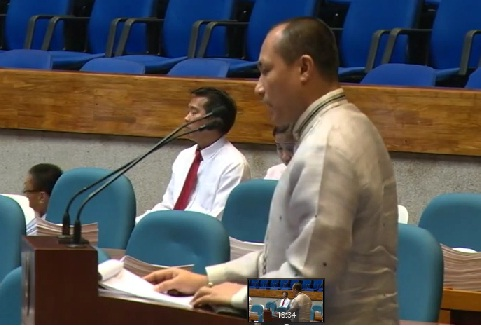 Rep. Gary Alejano interpellating during the deliberations on BBL.