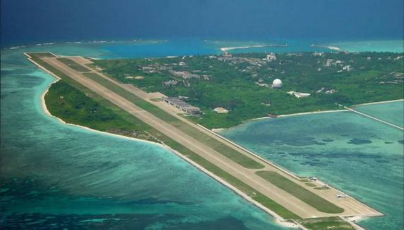 Itu Aba, the biggest feature in Spratlys. Occupied by Taiwan.