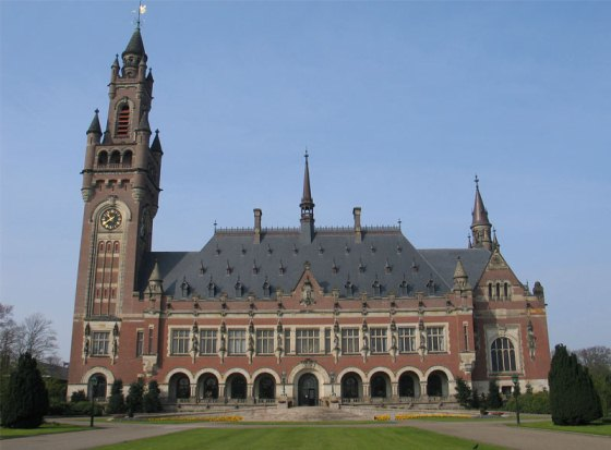 Permanent  Court of Arbitration, The Hague. The Arbitral Tribunal starts hearing today the case filed by the Philippines vs China in this building.
