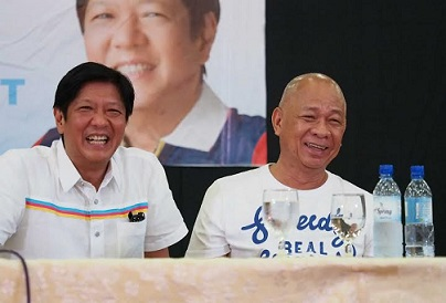 Bongbong Marcos with LP Cagayan De Oro Rep. Klarex Uy in a Marcos campaign caravan Friday last week. Photo from Marcos media