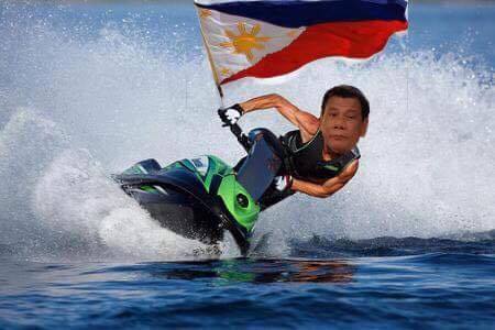 Duterte's Jetski diplomacy. Photo from Mary Anne Tejada's FB