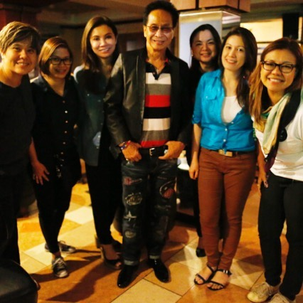 Presidential Spokesperson Salvador Panelo with reporters in Davao, June 8, 2016. Photo from Charie Villa.