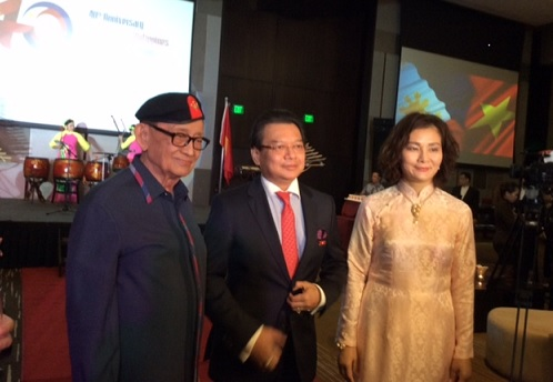 Former President Fidel V. Ramos with Vietnam Ambassador Truong Trieu Duong and Madame Dinh Thi Thu Huong