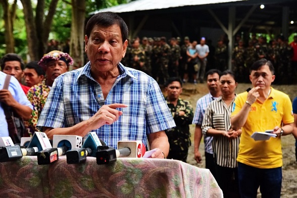 Duterte announces lifting of unilateral ceasefire July 29. Photo by Rene Lumawag of PPD