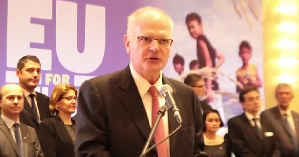 EU ambassador Franz Jessen lead celebration of Europe Day in the Philippines last May 9.