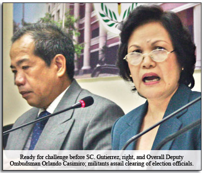 OMBUDSMAN Merceditas Gutierrez yesterday broke her silence on her office's